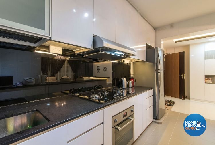 Classical, Contemporary Design - Kitchen - HDB 5 Room - Design by Ace Space Design Pte Ltd