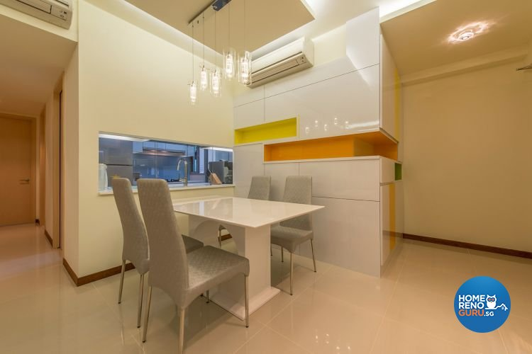 Eclectic, Modern Design - Dining Room - HDB 4 Room - Design by Ace Space Design Pte Ltd