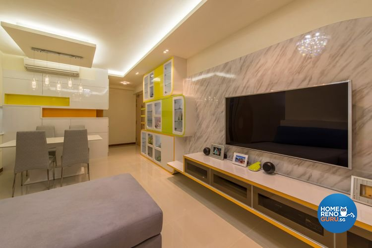 Eclectic, Modern Design - Living Room - HDB 4 Room - Design by Ace Space Design Pte Ltd