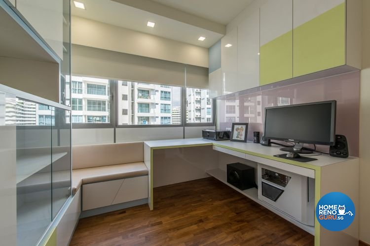 Eclectic, Modern Design - Study Room - HDB 4 Room - Design by Ace Space Design Pte Ltd