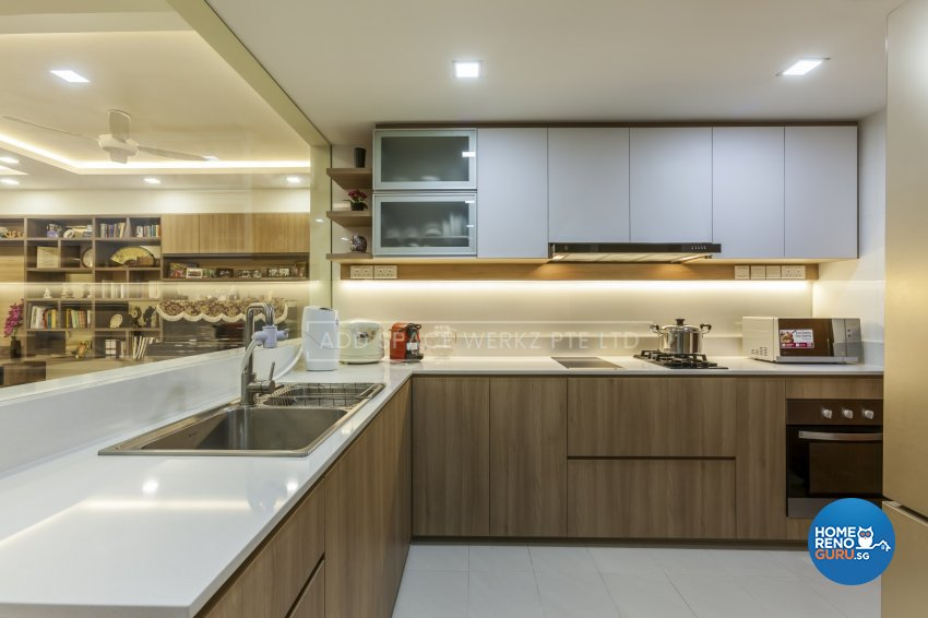 Contemporary Design - Kitchen - HDB 4 Room - Design by Add Space Design Pte Ltd