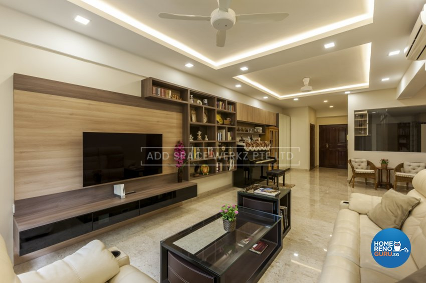 Contemporary Design - Living Room - HDB 4 Room - Design by Add Space Design Pte Ltd