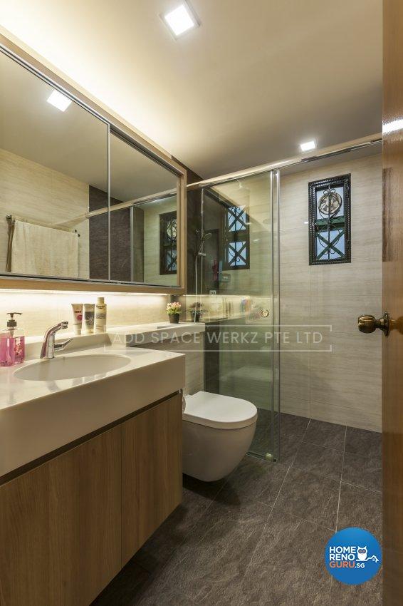 Contemporary Design - Bathroom - HDB 4 Room - Design by Add Space Design Pte Ltd