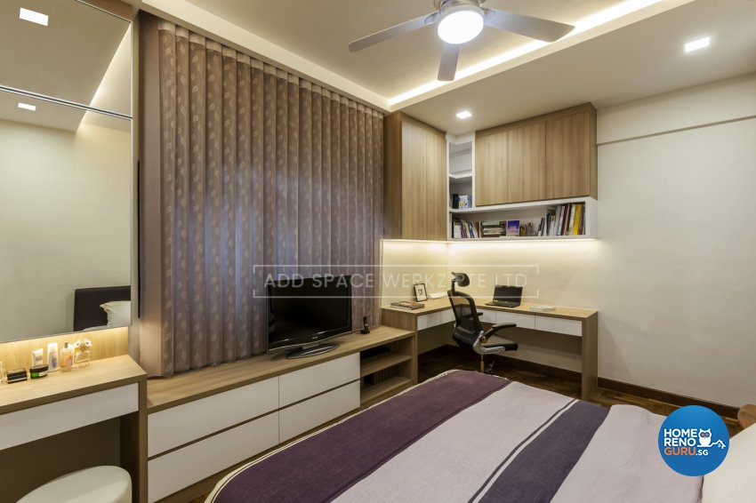 Contemporary Design - Bedroom - HDB 4 Room - Design by Add Space Design Pte Ltd