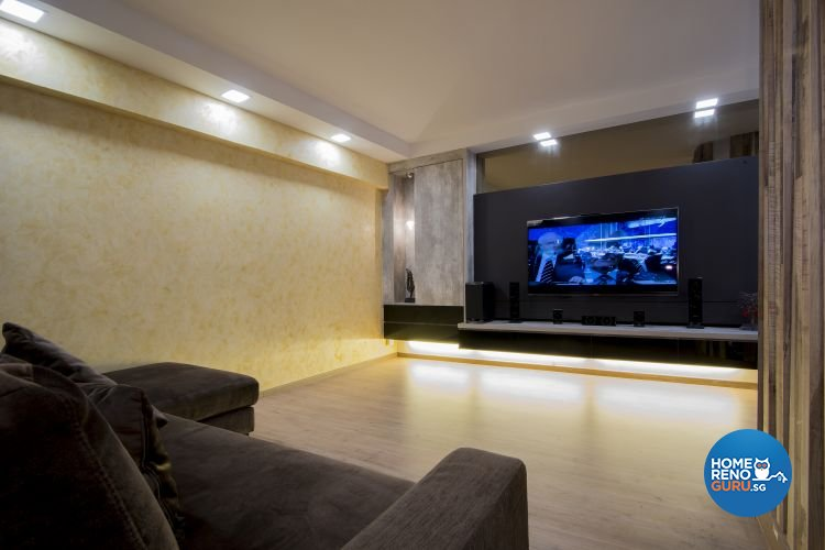 Contemporary, Country, Modern Design - Living Room - HDB 5 Room - Design by Affluent Theme Pte Ltd
