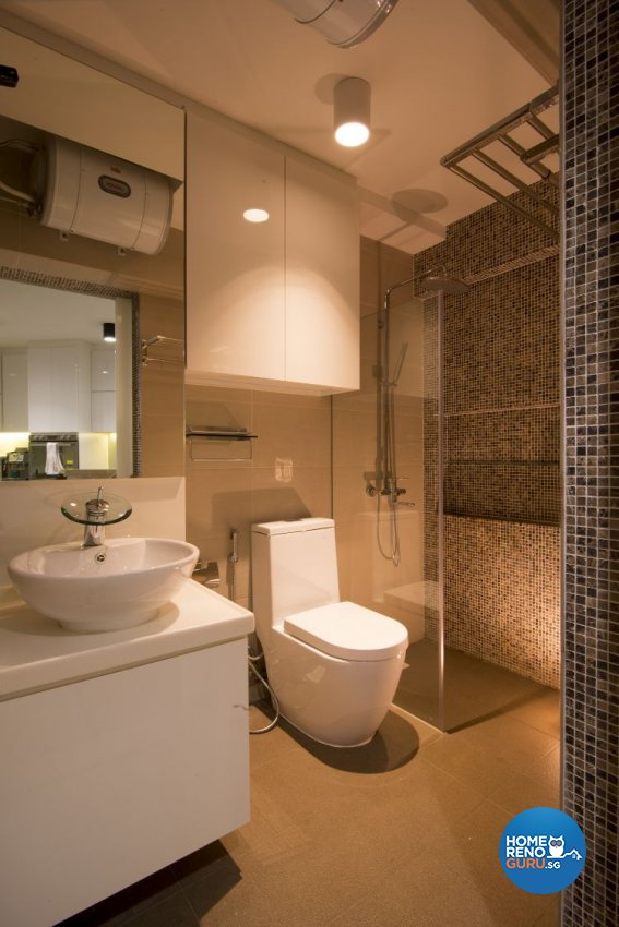 Contemporary, Country, Modern Design - Bathroom - HDB 5 Room - Design by Affluent Theme Pte Ltd