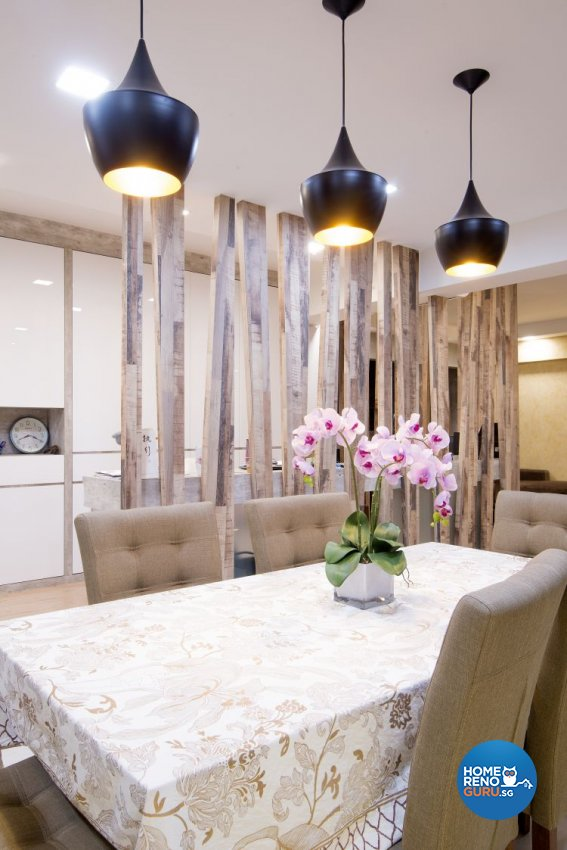 Contemporary, Country, Modern Design - Dining Room - HDB 5 Room - Design by Affluent Theme Pte Ltd