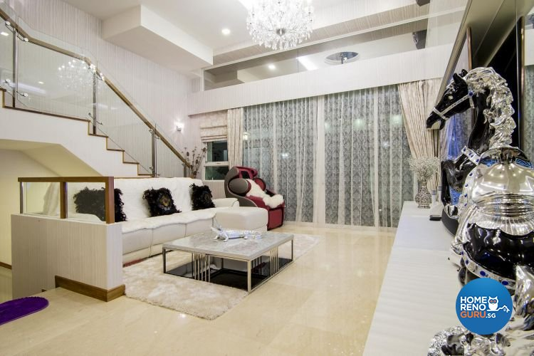 Classical, Contemporary, Modern Design - Living Room - Landed House - Design by Affluent Theme Pte Ltd