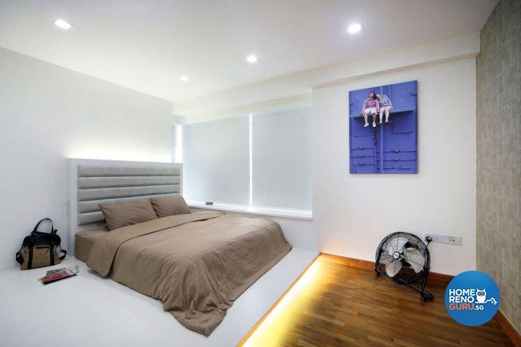 Contemporary, Minimalist Design - Bedroom - Condominium - Design by AGnS Design & Trade Pte Ltd