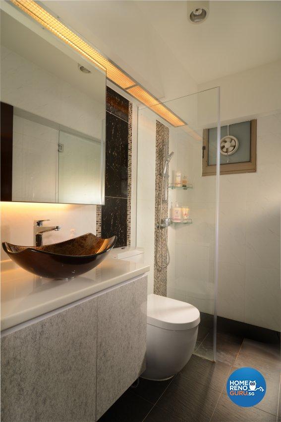 Contemporary, Modern Design - Bathroom - HDB 5 Room - Design by Ai Design Collection Pte Ltd