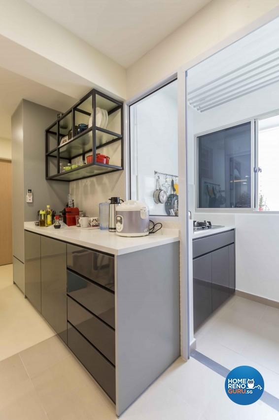 Modern Design - Kitchen - HDB 4 Room - Design by Albedo Design Pte Ltd