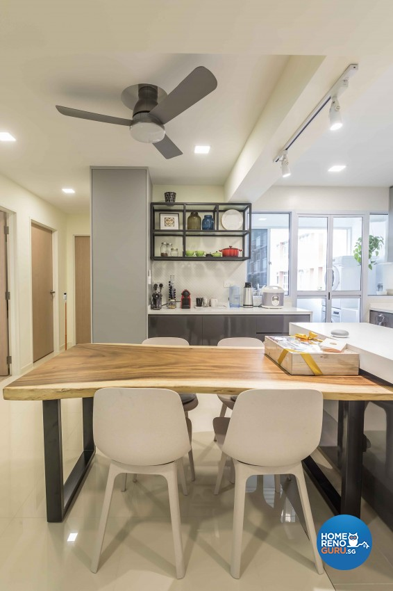 Modern Design - Dining Room - HDB 4 Room - Design by Albedo Design Pte Ltd