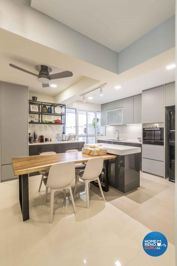 Modern Design - Dining Room - HDB 4 Room - Design by Albedo Design Pte Ltd