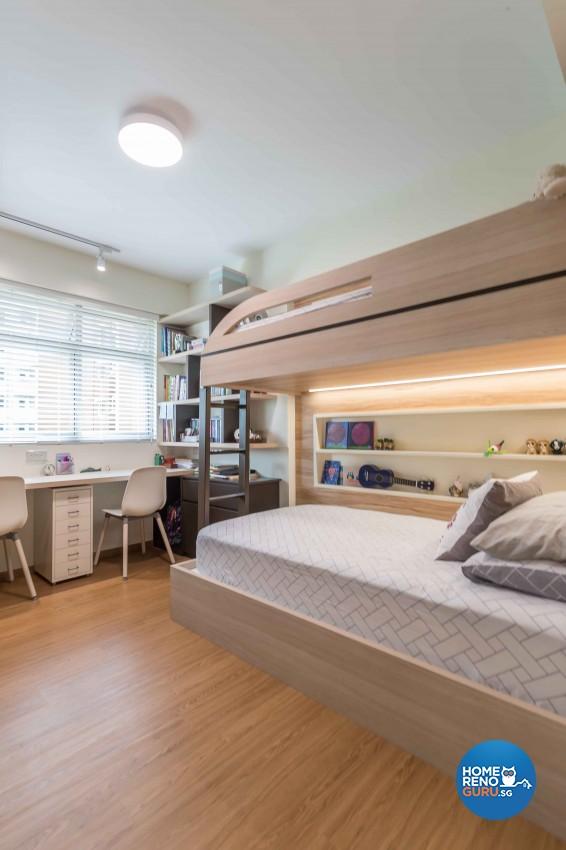 Modern Design - Bedroom - HDB 4 Room - Design by Albedo Design Pte Ltd