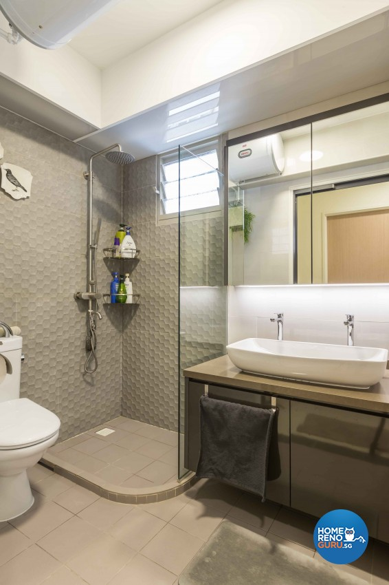 Modern Design - Bathroom - HDB 4 Room - Design by Albedo Design Pte Ltd