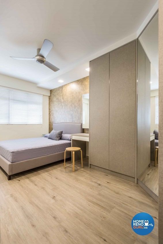 Modern Design - Bedroom - HDB 4 Room - Design by Albedo Design Pte Ltd