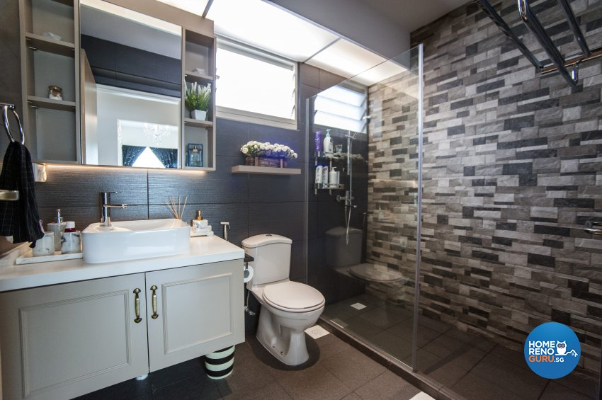 Modern, Victorian Design - Bathroom - Condominium - Design by Albedo Design Pte Ltd