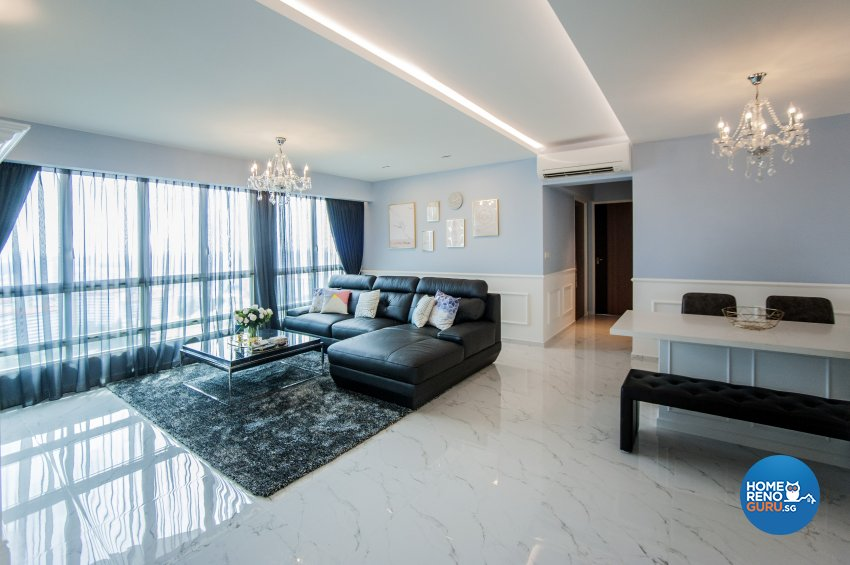 Modern, Victorian Design - Living Room - Condominium - Design by Albedo Design Pte Ltd