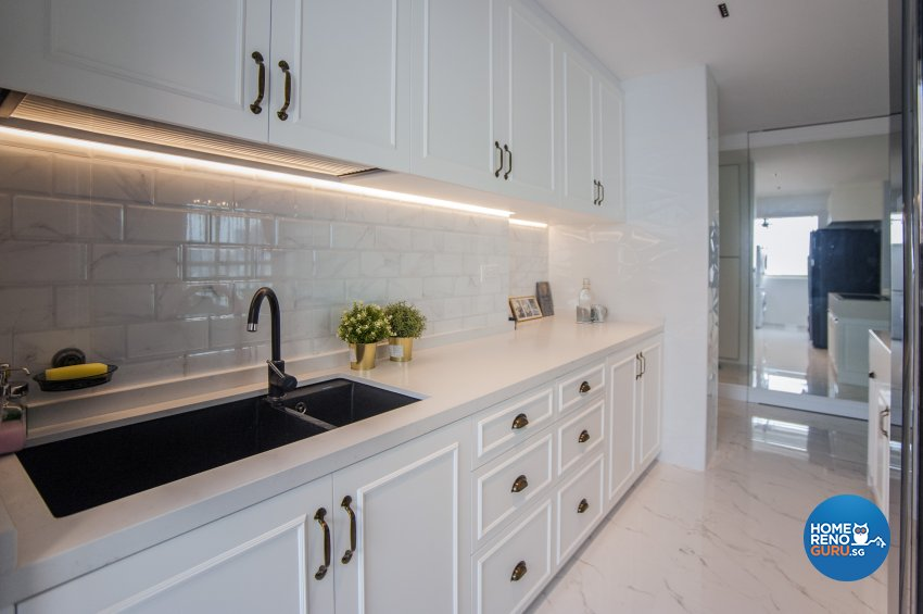 Modern, Victorian Design - Kitchen - Condominium - Design by Albedo Design Pte Ltd