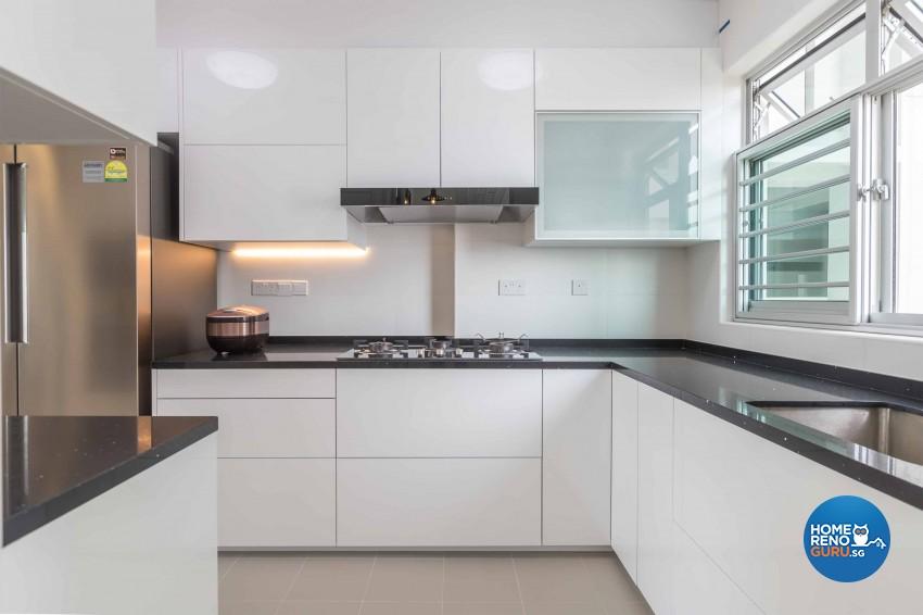 Contemporary, Modern Design - Kitchen - HDB 4 Room - Design by Albedo Design Pte Ltd