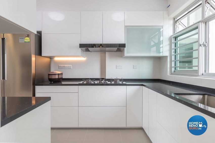 Contemporary, Modern Design - Kitchen - HDB 4 Room - Design by Albedo Design Pte Ltd