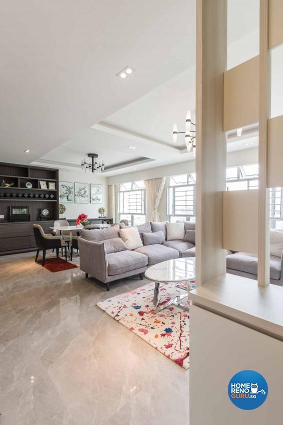 Contemporary, Modern Design - Living Room - HDB 4 Room - Design by Albedo Design Pte Ltd