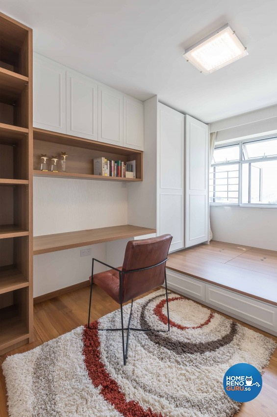 Contemporary, Modern Design - Study Room - HDB 4 Room - Design by Albedo Design Pte Ltd