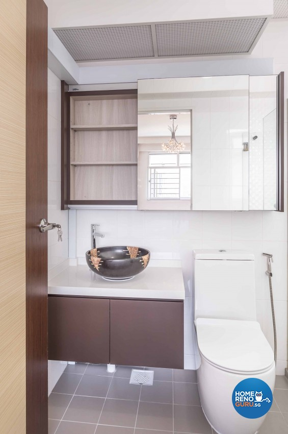 Contemporary, Modern Design - Bathroom - HDB 4 Room - Design by Albedo Design Pte Ltd