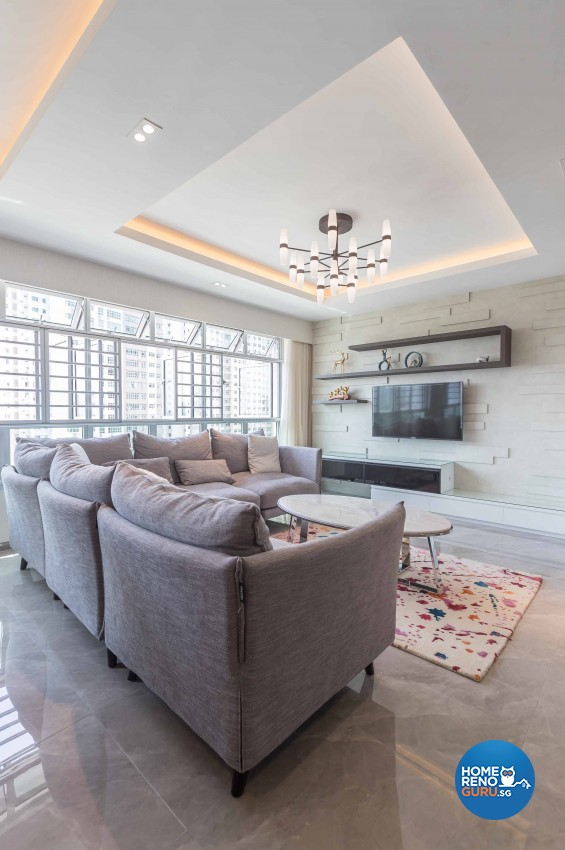 Contemporary, Modern Design - Living Room - HDB 4 Room - Design by Albedo Design Pte Ltd