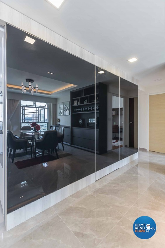 Contemporary, Modern Design - Dining Room - HDB 4 Room - Design by Albedo Design Pte Ltd