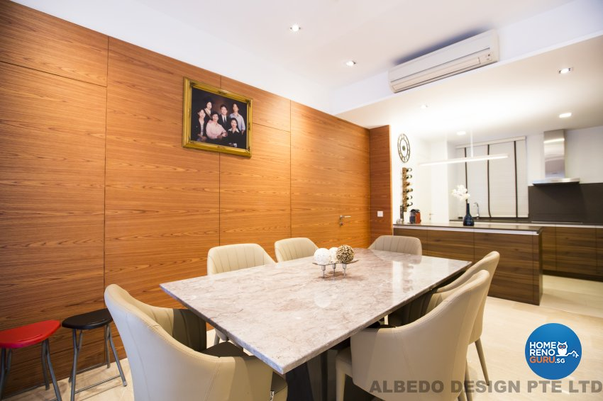 Contemporary, Minimalist, Modern Design - Dining Room - Condominium - Design by Albedo Design Pte Ltd