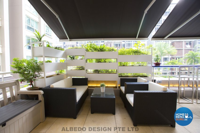 Contemporary, Minimalist, Modern Design - Balcony - Condominium - Design by Albedo Design Pte Ltd
