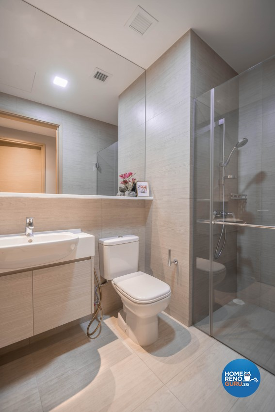 Industrial, Modern Design - Bathroom - Condominium - Design by Albedo Design Pte Ltd