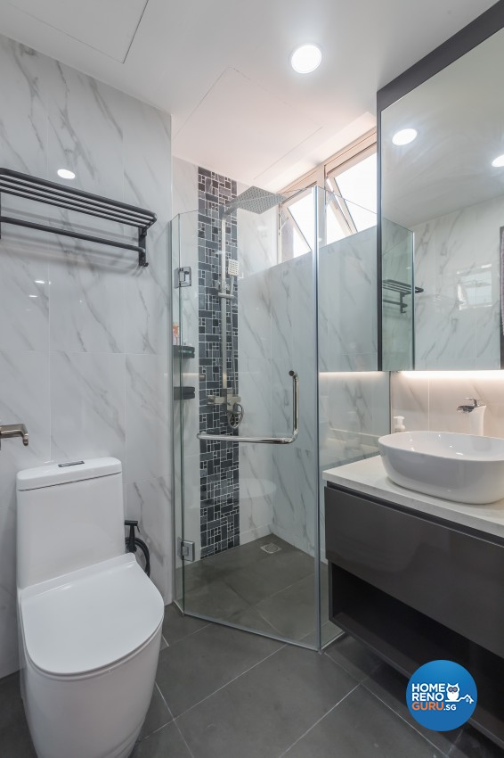 Contemporary, Modern Design - Bathroom - Condominium - Design by Albedo Design Pte Ltd