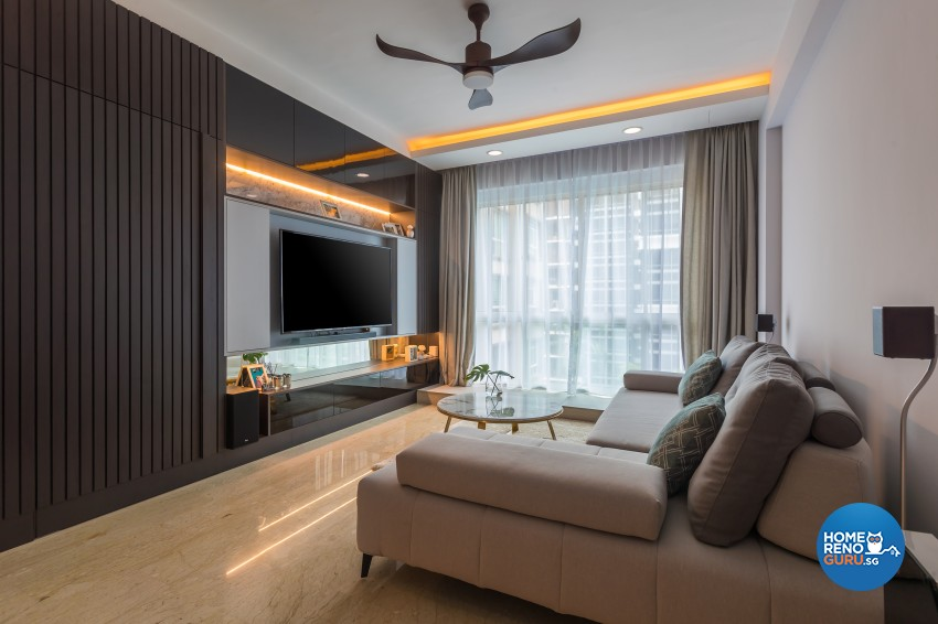 Contemporary, Modern Design - Living Room - Condominium - Design by Albedo Design Pte Ltd