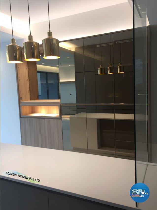 Contemporary, Minimalist, Modern Design - Kitchen - Condominium - Design by Albedo Design Pte Ltd