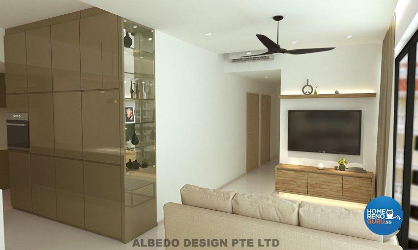 Contemporary, Minimalist, Modern Design - Living Room - Condominium - Design by Albedo Design Pte Ltd