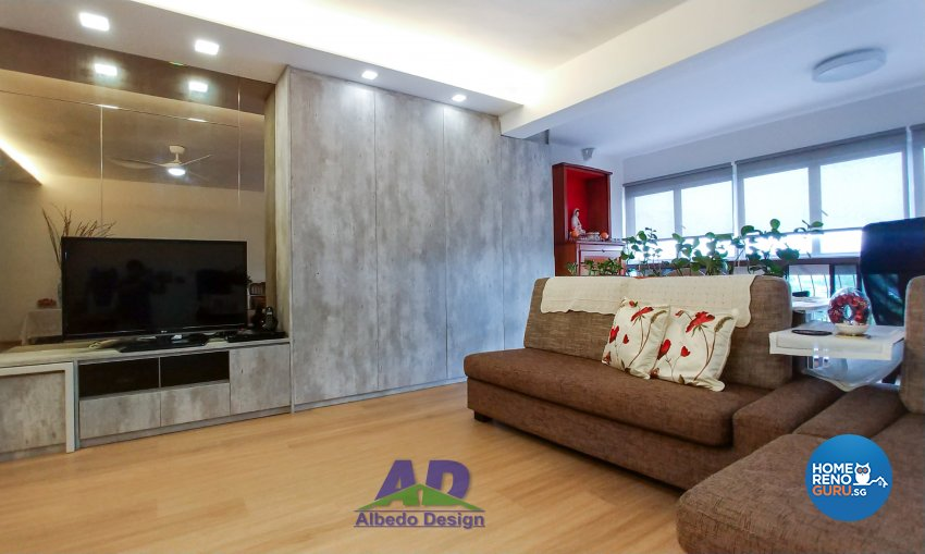 Minimalist, Modern Design - Living Room - Condominium - Design by Albedo Design Pte Ltd