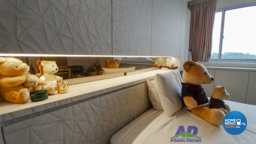 Minimalist, Modern Design - Bedroom - Condominium - Design by Albedo Design Pte Ltd