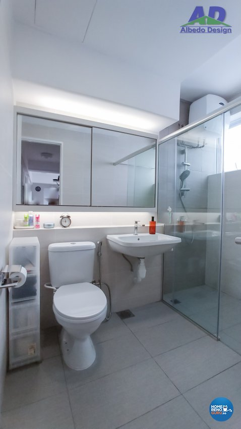 Minimalist, Modern Design - Bathroom - Condominium - Design by Albedo Design Pte Ltd