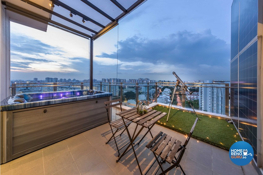 Modern Design - Balcony - Condominium - Design by All About Designs Pte Ltd
