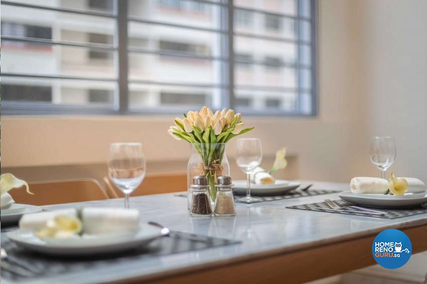 Scandinavian Design - Dining Room - HDB 4 Room - Design by All About Designs Pte Ltd