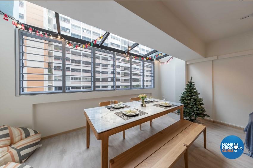 Scandinavian Design - Dining Room - HDB 4 Room - Design by All About Designs Pte Ltd