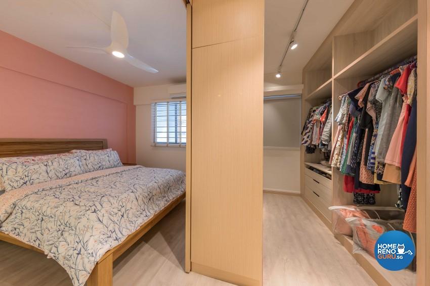 Scandinavian Design - Bedroom - HDB 4 Room - Design by All About Designs Pte Ltd