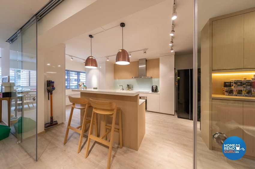 Scandinavian Design - Kitchen - HDB 4 Room - Design by All About Designs Pte Ltd