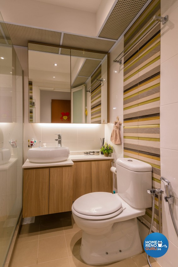 Contemporary, Modern Design - Bathroom - HDB 4 Room - Design by All About Designs Pte Ltd