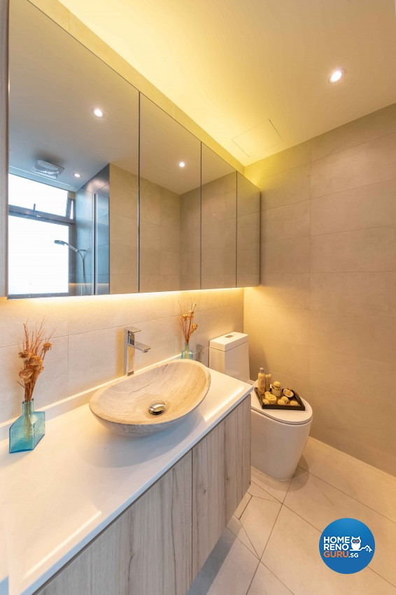 Modern, Victorian Design - Bathroom - HDB 4 Room - Design by All About Designs Pte Ltd