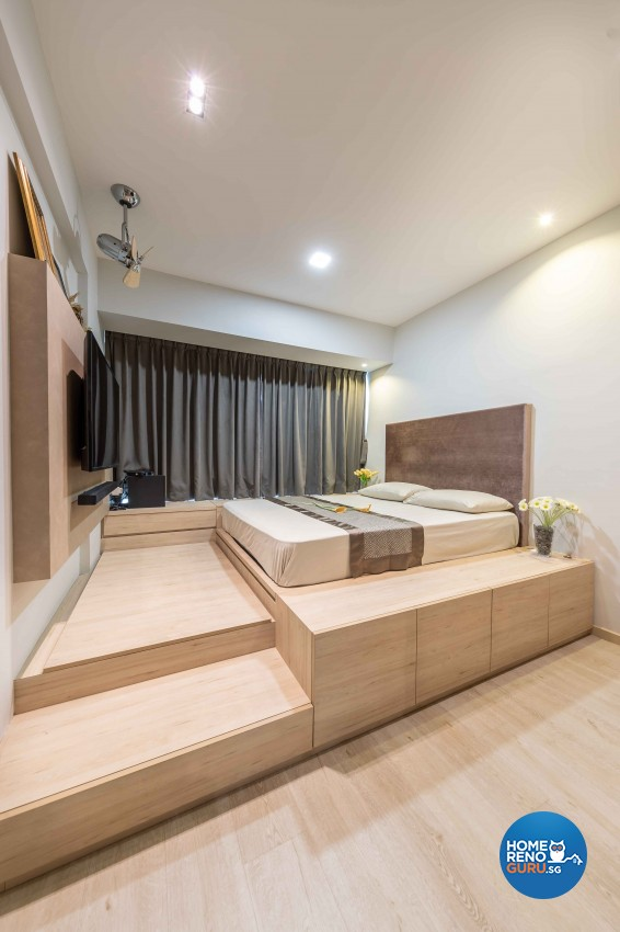 Modern, Victorian Design - Bedroom - HDB 4 Room - Design by All About Designs Pte Ltd