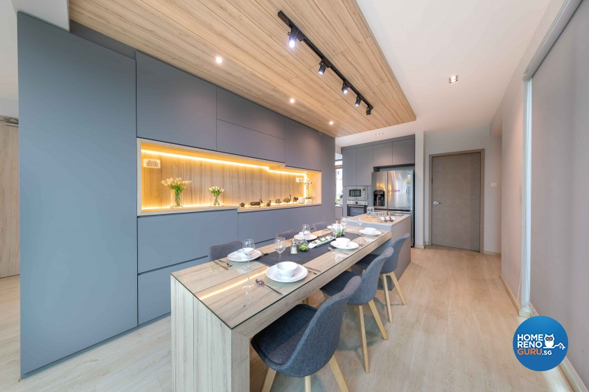 Modern, Victorian Design - Dining Room - HDB 4 Room - Design by All About Designs Pte Ltd