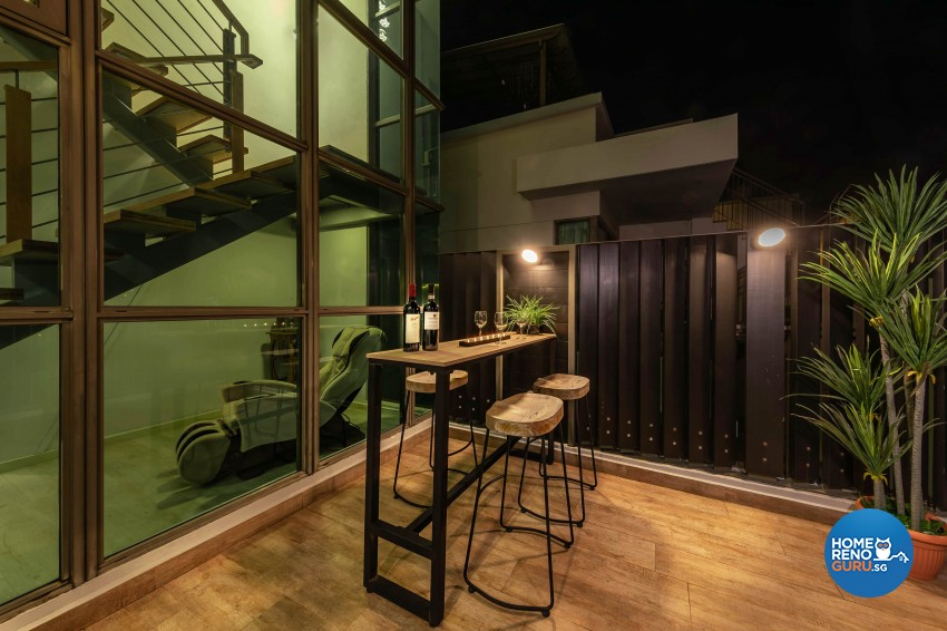 Modern, Victorian Design - Balcony - HDB 4 Room - Design by All About Designs Pte Ltd